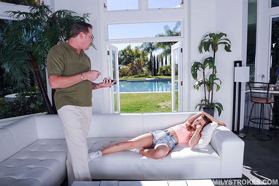 Step dad banging alaina kristar on top of his cock hq porn