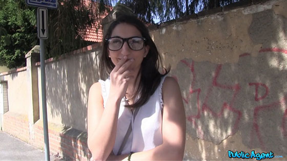 PublicAgent: Jimena Lago, Hard Cock For Spanish Pussy Outside