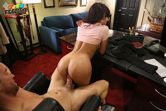 Teenfidelity gina valentina creampied by the school dean 8