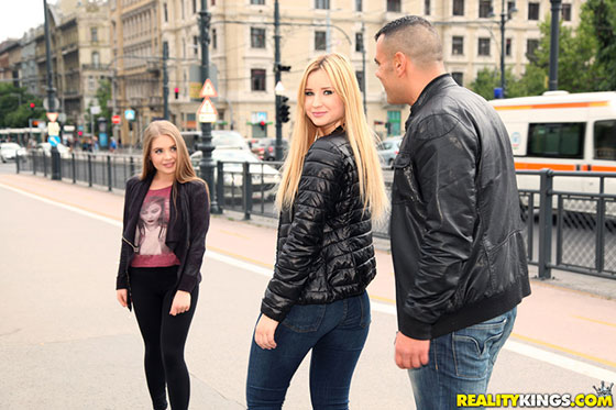 EuroSexParties: Alessandra Jane and Cherry Bright, Stroke and Suck