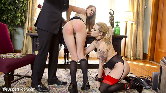 TheUpperFloor: Dahlia Sky nad Zoey Laine, Tax Day: The Slave and The Bad Girl's Anal Punishment