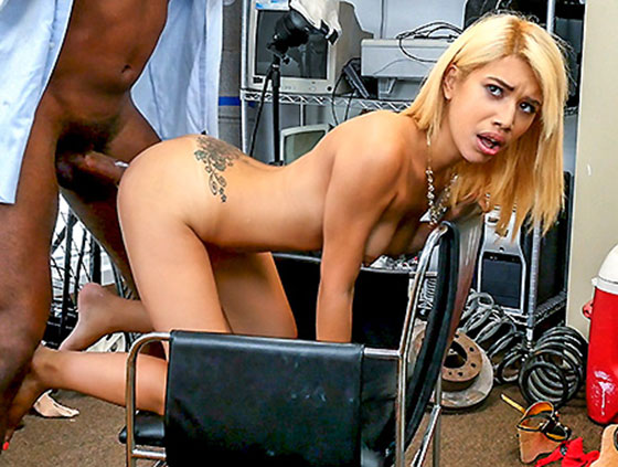 BlackLoads: Giselle D. Ambrosia, Spanish Broad Taking This Long Cock