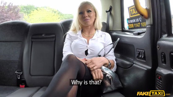 FakeTaxi: Barbie Sins, Hot Estate Agent Gets Creampied