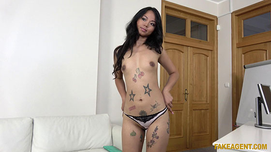 FakeAgent: Jureka Del Mar, Thai babe with pierced pussy fucked